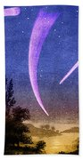 Comets In Night Sky Bath Towel