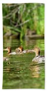 Common Merganser Bath Towel