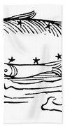 Constellation: Pisces Bath Towel