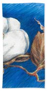 Cotton Picking Blues Hand Towel