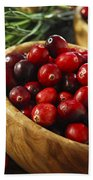 Cranberries In Bowls Bath Towel