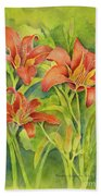 Day Lilies Bath Towel