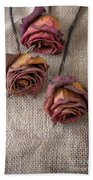 Dead Roses Hand Towel