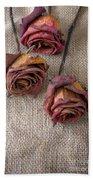 Dead Roses Bath Towel