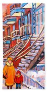 Debullion Street Winter Walk Bath Towel