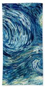 Detail Of The Starry Night Bath Towel