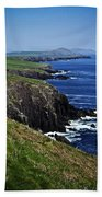 Dingle Coastline Near Fahan Ireland Bath Towel