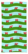 Double Decker Bus Bath Towel