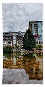 Downtown Of Greenville South Carolina Around Falls Park Bath Towel