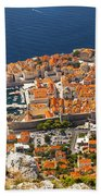 Dubrovnik Old Town From Above Bath Towel