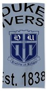 Duke University Est 1838 Bath Towel