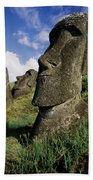 Easter Island Moai Bath Towel