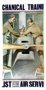 Mechanical Training - Enlist In The Air Service Bath Towel