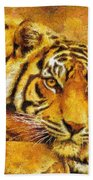 Eye Of The Tiger Bath Towel