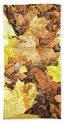 Fallen Leaves Bath Towel