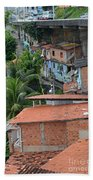Favela In Salvador Da Bahia Brazil Bath Towel