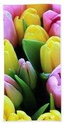 Field Of Tulips Bath Towel