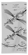 Fish Lure Patent 1933 Bath Towel