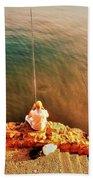 Fishermen In Beirut  Bath Towel
