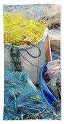 Fishing Industry In Limmasol Hand Towel
