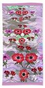 Flower Mania Anemone Fantasy Wave Design Created Of Garden Colors Unique Elegant Decorations Bath Towel