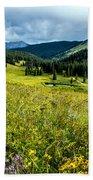 Flowering Colorado Mountain Meadow Bath Towel
