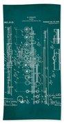 Flute Patent Drawing 2f Bath Towel