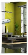 Fly The Friendly Skies Art Bath Towel
