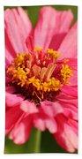 Fuchsia Pink Zinnia From The Whirlygig Mix Bath Towel