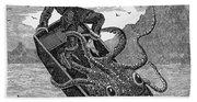 Giant Squid, 1879 Bath Towel