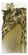 Giraffe Contemplation Bath Towel