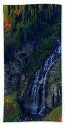 Glacier Waterfall Hand Towel
