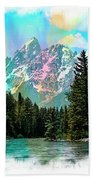 Grand Tetons From The Snake River Bath Towel