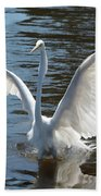 Great Egret Wings Bath Towel