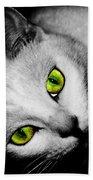 Green Eyes Bath Towel