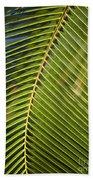 Green Palm Leaf Bath Towel