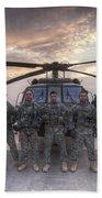 Group Photo Of Uh-60 Black Hawk Pilots Bath Towel