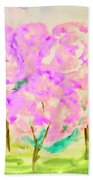 Hand Painted Picture, Spring Garden Bath Towel
