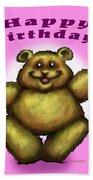 Happy Birthday Bear Hand Towel