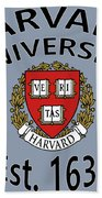 Harvard University Est. 1636 Bath Towel