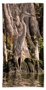 Heron And Cypress Knees Bath Towel