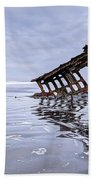 The Peter Iredale Wreck, Cannon Beach, Oregon Bath Towel