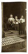 Hine: Child Labor, 1908 Bath Towel