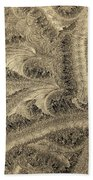 Extraordinary Hoarfrost Scallop Patterns In Sepia Bath Towel