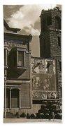 Holy Angel's Catholic Church Rectory  Belles Indian Saloon   The Great White Hope Set Globe Az 1969 Bath Towel