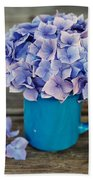 Hortensia Flowers Bath Towel