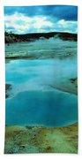 Hot Springs In Yellowstone. Bath Towel