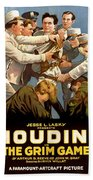 Houdini In The Grim Game 1919 Bath Towel