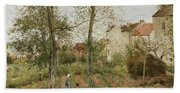 Houses At Bougival  Hand Towel