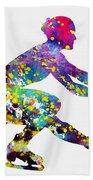 Ice Skater-colorful Bath Towel